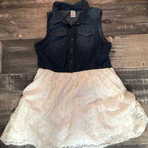 Denim and lace Arizona jean brand